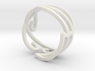 Swirly Elven Ring (size 9) in White Strong & Flexible