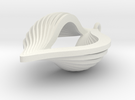 Shell Ornament in White Strong & Flexible