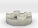 Sewable Disc Button; Detail Materials in Transparent Acrylic