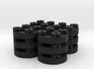 Sewable Disc Buttons (12 Pack) in Black Strong & Flexible
