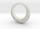Armadillo Wave Bangle in White Strong & Flexible
