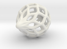 Heavier Netted Ornament in White Strong & Flexible