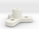 Wheel Mount in White Strong & Flexible
