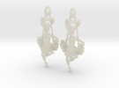 Victorian Steampunk Swing Lady Earrings in Transparent Acrylic