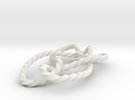 Stevedore knot in White Strong & Flexible