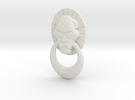 Rekki-Maru Lion Ring Plate in White Strong & Flexible