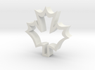 Maple Leaf shaped cookie cuttere in White Strong & Flexible