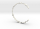 Spiral Bracelet Cuff Medium in White Strong & Flexible