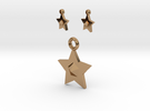 Star Pendant And Earrings in Polished Brass