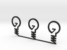 ''INVENT'' Lightbulb Bookmark X 3 in Black Strong & Flexible