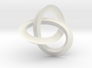 umbilic trefoil knot 1 in White Strong & Flexible