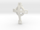 basic CROSS pendant 2 in White Strong & Flexible
