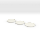 Round Model Base 40mm X3 in White Strong & Flexible