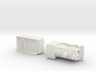 Capsule CR 812 model loco and tender. in White Strong & Flexible