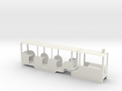 Min Rail Railcar in White Strong & Flexible