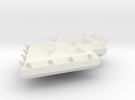 Diamond Spiked Shield in White Strong & Flexible