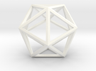 Icosahedron in White Strong & Flexible Polished