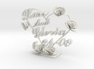 Russglo Wedding Cake Topper in White Strong & Flexible