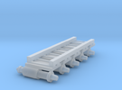 Air Brake (x5) for HOn3/30 Freight stock in Frosted Ultra Detail