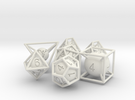 Frame Dice Pack in White Strong & Flexible