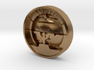 Aviation Button - Attitude Indicator in Raw Brass