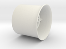 20mm flanged EDF case in White Strong & Flexible