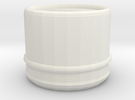Vintage Style Hayashi Center Cap (64mm dia.) in White Strong & Flexible