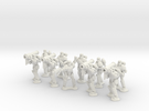 15mm Legionary Missile Support Squad in White Strong & Flexible