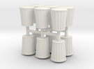 15mm Trash Cans (12) in White Strong & Flexible