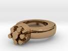 Thin Walls Fixed  Ring 20x20mm More Printable  in Polished Brass