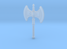 He-Man's Battle Axe scaled for Minimates in Frosted Ultra Detail