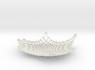 "Radiolarian Bowl 2 - 7"" in White Strong & Flexible"