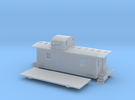 N scale Pennsylvania N6B Caboose in Frosted Ultra Detail