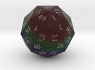 Dark Rainbow d60 in Full Color Sandstone