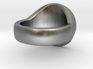 Awen Signet Ring in Raw Silver