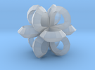 1 Inch Loop Cube ( Low Poly ) in Frosted Ultra Detail