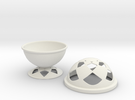 Font Hill Bowl With Crop Circle Cap in White Strong & Flexible