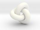 trefoil 7mm diam in White Strong & Flexible Polished