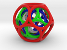 Nested Multi-colored Toroidal Dodecahedron in Full Color Sandstone