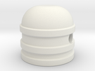 Dome style knob in White Strong & Flexible