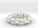bangle 002 hollow 65mm in White Strong & Flexible