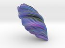 Mathematical Mollusca - Large Spiraling Organic Sh in Full Color Sandstone