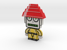 DevoBot Series 1 yellow bio suit Bob1 in Full Color Sandstone