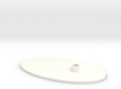 Flat Stand  in White Strong & Flexible Polished