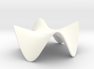 Paraboloid Sculpture in White Strong & Flexible Polished