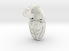 Scarab Beetle - Pendant 3.8 - style 4 in White Strong & Flexible