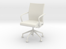Stylex Sava Chair - Fixed Arms 1:24 Scale in White Strong & Flexible