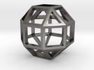 Rhombicuboctahedron in Polished Nickel Steel