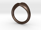 Ring-1 in Matte Bronze Steel
