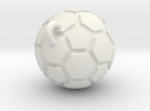 Pendant(Soccer Ball) in White Strong & Flexible
